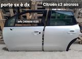 Porte SX SINISTRE E' DX DESTRE citroen c3 aircross