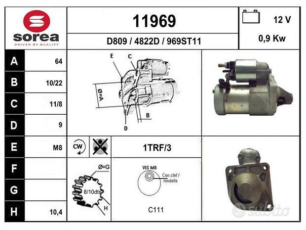 Motorino avviamento 1.2 e 1.4 benzina