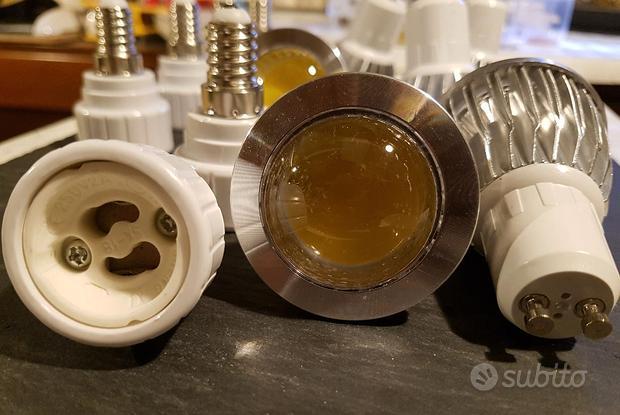 6 lampade led cob GU10 con adattatori