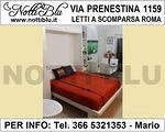 Letti a Scomparsa Roma _ Letto VE436 V. PRENESTINA