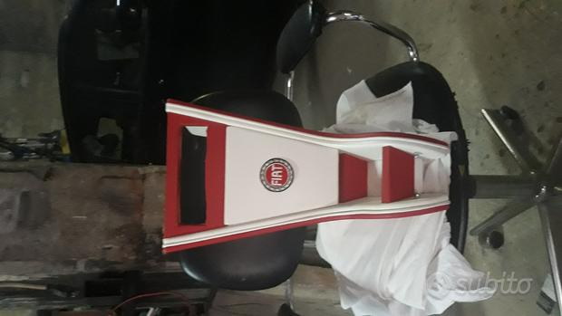 Mobiletto porta radio, marmitta, volante 500 epoca