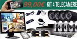 Kit videosorveglianza 4 canali 1080p completo