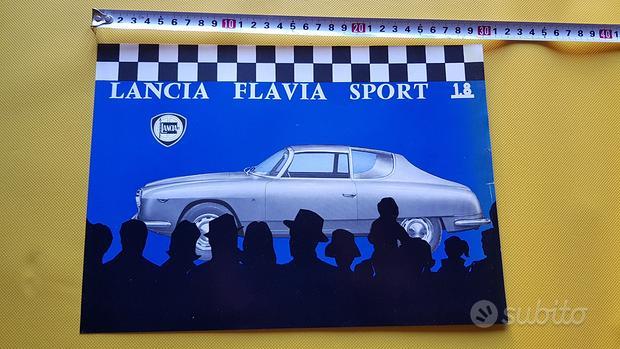 Lancia Flavia Sport Zagato 1.8 1963 depliant epoca