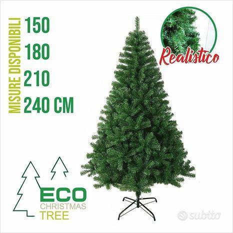 Albero di natale pino realistico verde 150cm