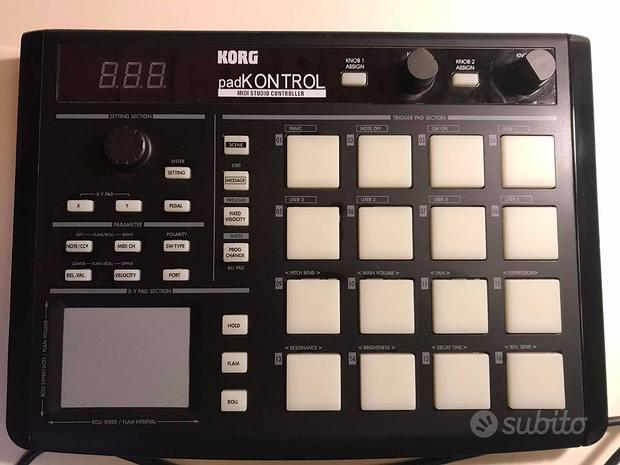 Korg padkontrol controller usb midi studio