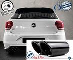 TERMINALI di Scarico VW Polo GTI Acciaio INOX Nero