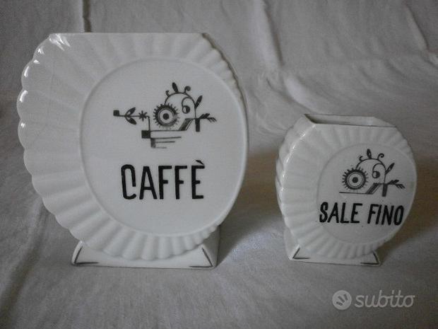 2 vecchie CERAMICHE da cucina : Caffè e Sale fino