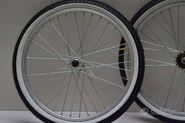 Cerchio o ruote 24 graziella bmx mtb in alluminio
