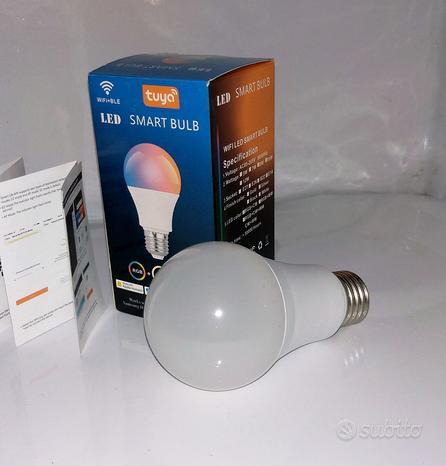 Lampadina Alexa WiFi E27, Smart LED 10W 1000LM 90W