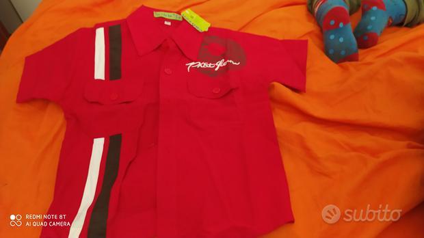 Camicia 12 mesi rossa nuova con etichetta