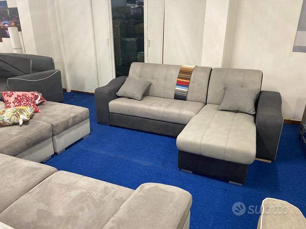 Nuovo divano letto penisola contenitore a metà