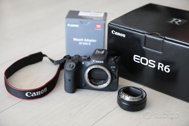 Canon EOS R6 Body + Canon Adattatore EF-EOS R