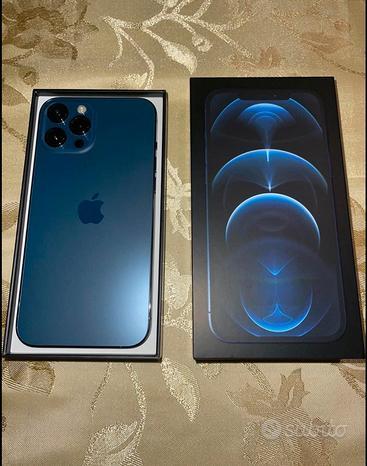 Phone 12 Pro Max 256GB blu Pacifico nuovo 2 mesi