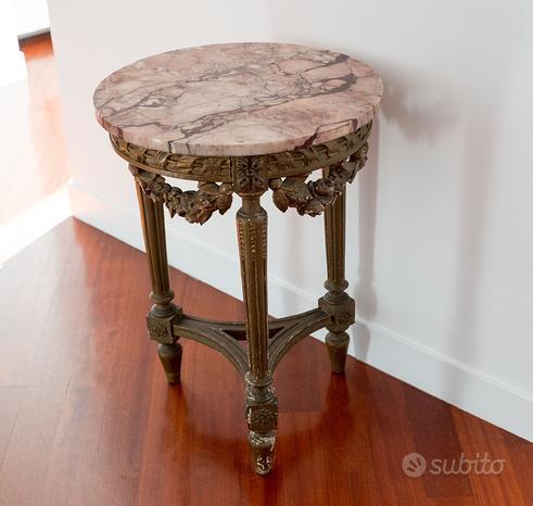 Tavolino Consolle Vetrina Specchio antico