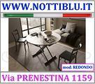 Tavolino Trasformabile Rotondo A22 _ NOTTI BLU