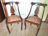 Coppia di sedie luigi xiv antiche
