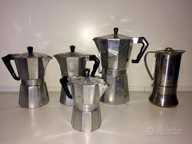 Blocco 5 caffettiere vintage moka
