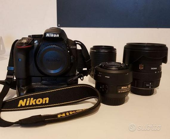 Nikon d5300 con obiettivi