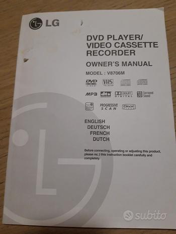 LG DVD Player VIDEO CASSETTE Recorder Model: V8706