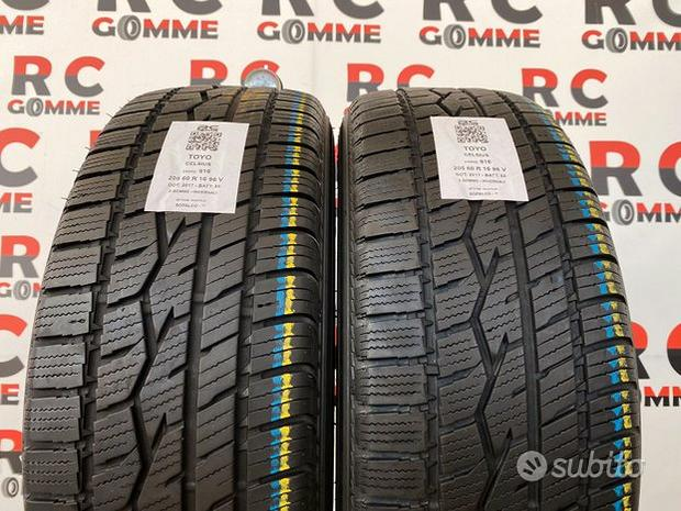 2 gomme usate 205/60 r 16 96v toyo