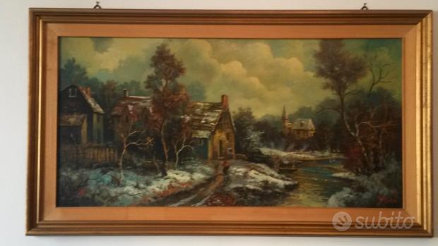 Dipinto a Olio, con certificazione del pittore