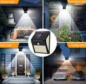 4 Faretti solari a led da esterno