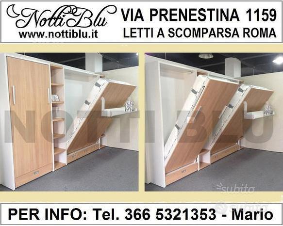 Letto a Scomparsa Roma _ Letti Singoli VE457