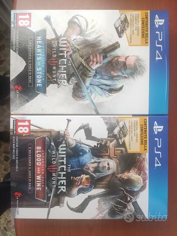 Playstation 4 the witcher 3 espansioni limited ed