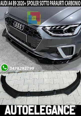 Splitter sotto paraurti audi a4 b9 2019+ abs carbo