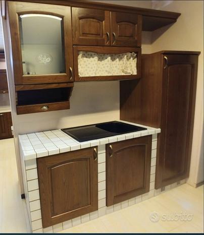 Monoblocco cucina in muratura Cotto Veneto L210 cm