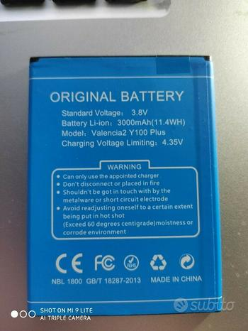 Batteria-Battery-Doogee-GB-T-18287-2013 NUOVA