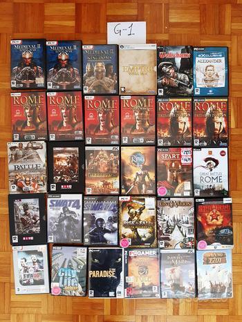Videogiochi PC usati collezione lotto vario genere