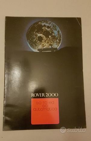 Rover modelli 2000 TC SC 1971 depliant originale