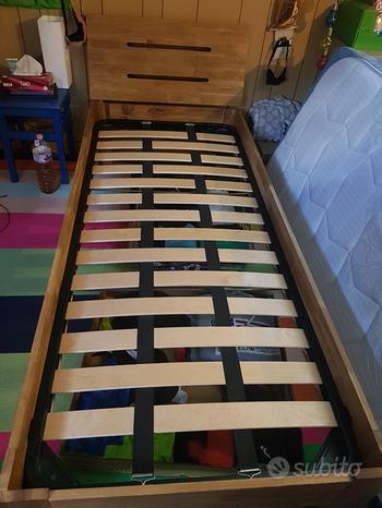 Rete artigianale in legno 90x190 letto singolo