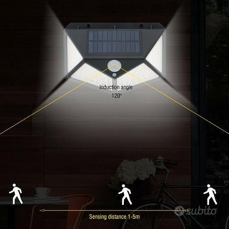 FARETTI 100 LED Da esterno ad Energia Solare con s