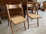 Sedie pieghevoli legno e paglia di Vienna