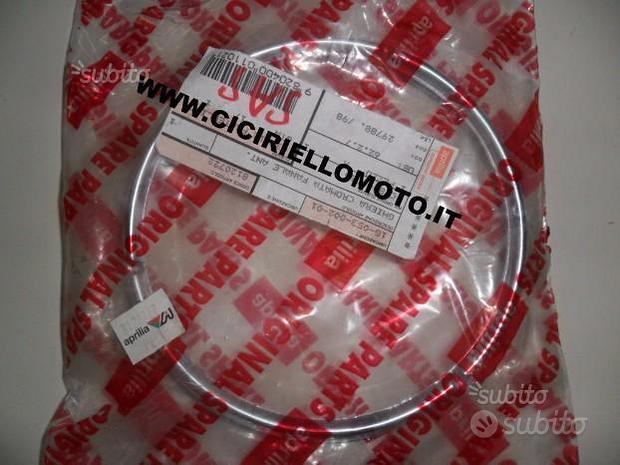 Ghiera cromata fanale aprilia classic red rose 50
