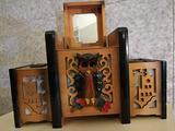 Carillon x Fumatori pregiato legno intarsiato