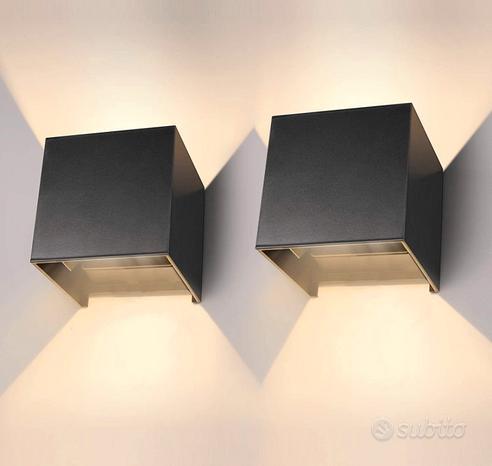 Applique, 2 Lampade da parete moderna