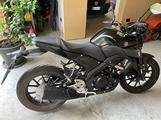 Moto Yamaha 125 incidentata