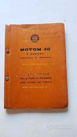 Motom 48 modelli fino 1958 catalogo ricambi epoca