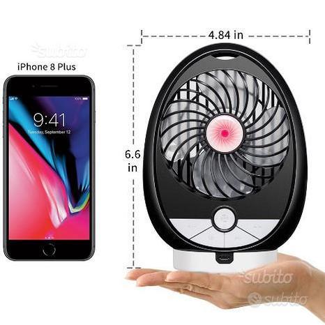 Altoparlante Bluetooth portatile mini ventilatore