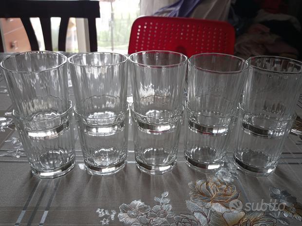 10 bicchieri in vetro