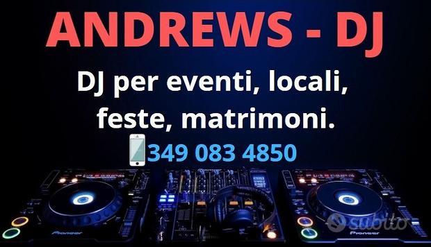 DJ con karaoke per matrimoni e feste