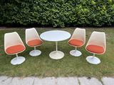 Tavolo Saarinen e 4 sedie Tulip by Knoll originali