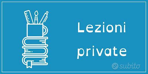 Lezioni private/ preparazione x test/ ripetizioni