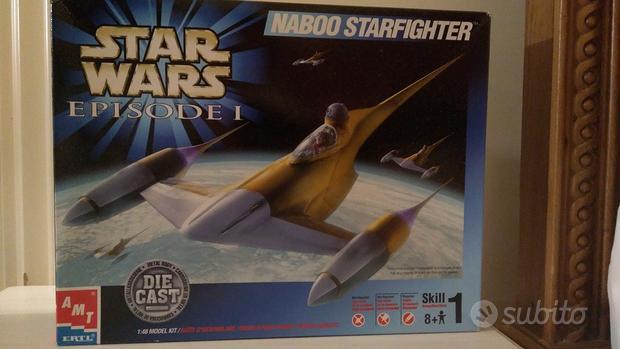 Naboo starfighter 1:48 model kit diecast star wars