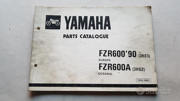 Yamaha FZR 600 1990 catalogo ricambi originale