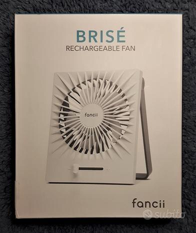 FANCII BRISÉ Ventilatore da Tavolo Ricaricabile