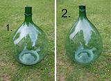 Damigiane vetro verde anni 40 50 soffiate grandi